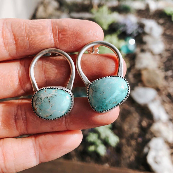 Turquoise + Sterling Silver Earrings