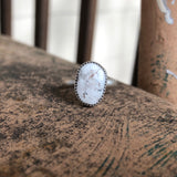 White Buffalo + Sterling Silver Ring • Size 8