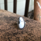 White Buffalo + Sterling Silver Ring • Size 6