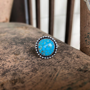 Turquoise Mountain Turquoise + Sterling Silver Ring • Size 6.5