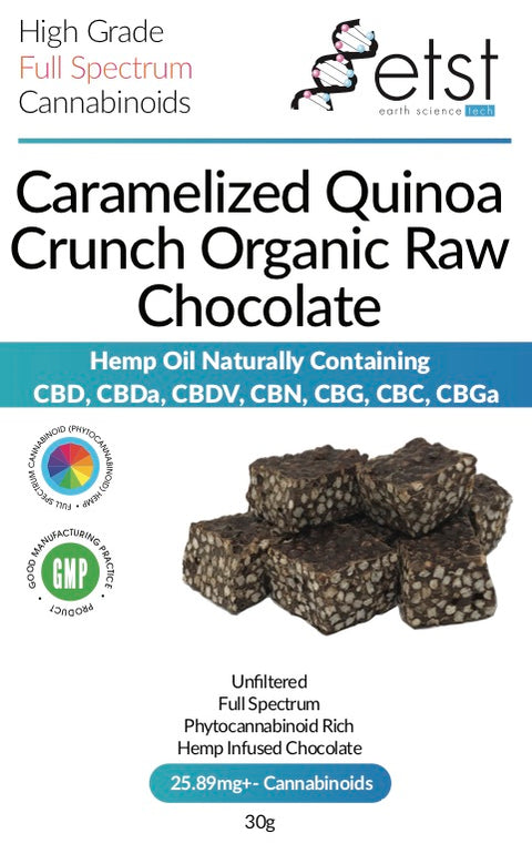 CBD Cannabidiol Dark Chocolate Quinoa Crunch