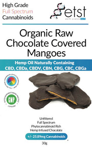 CBD Cannabidiol Dark Chocolate Covered Mangoes