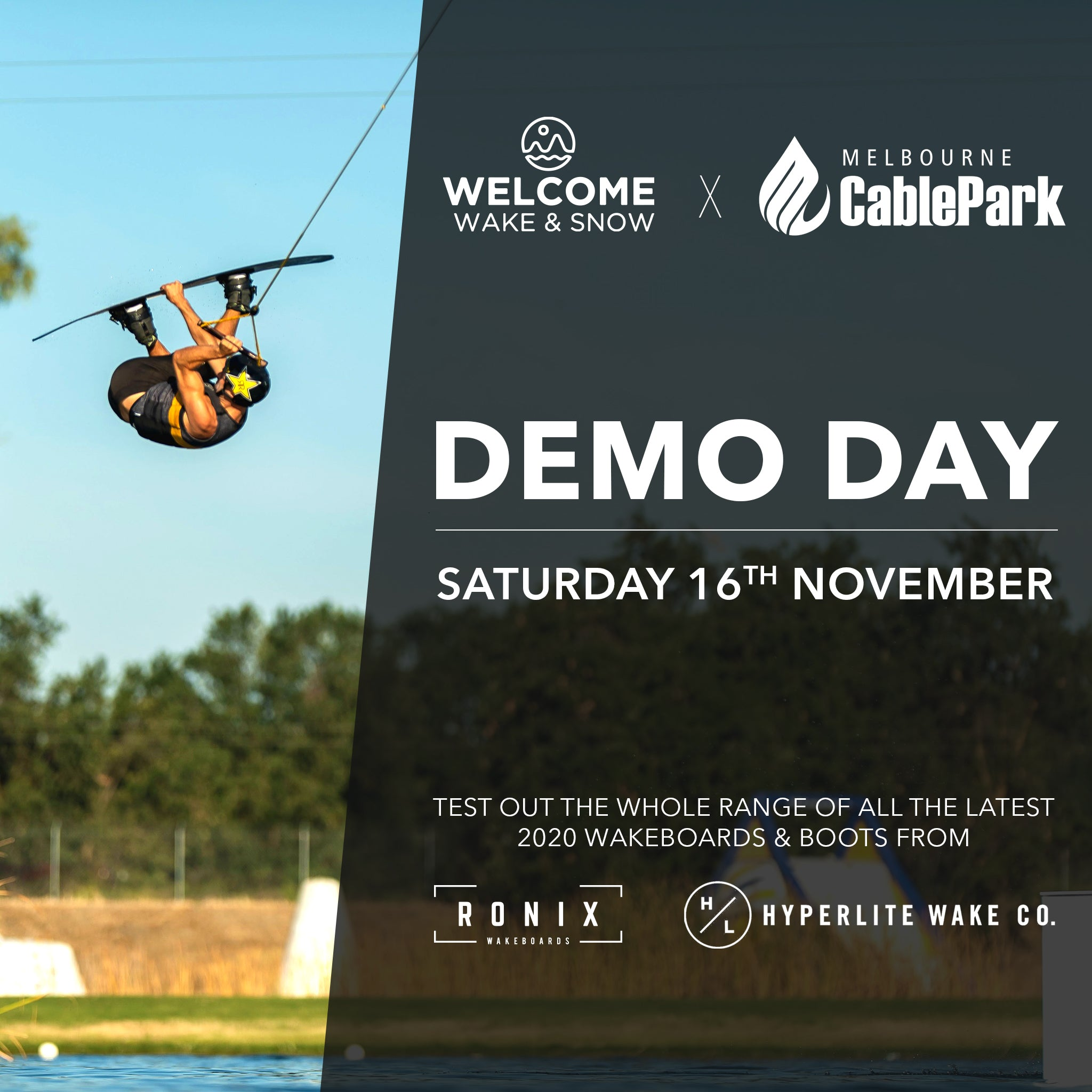 Ronix Hyperlite Demo Day Melbourne Cable Park