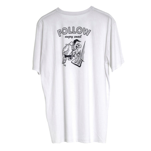 2021 Follow Angry Email Mens Tee