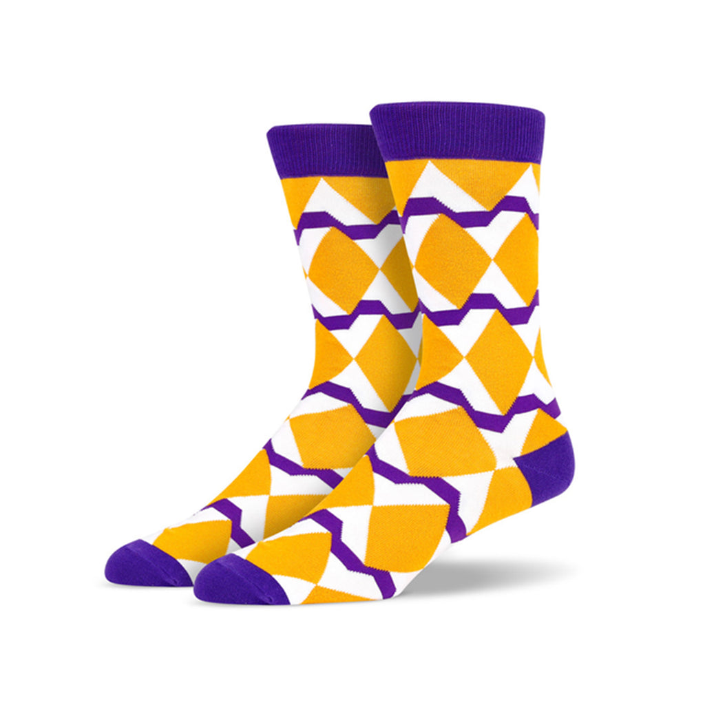 Big Orange Diamonds Socks | SMOKE & SODA