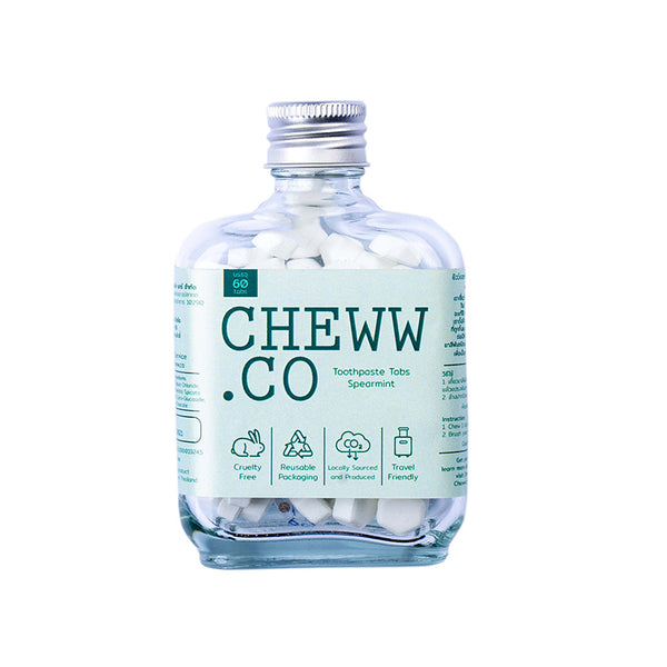 CHEWW.CO Foamy Mint Toothpaste 60 Tabs | SMOKE & SODA