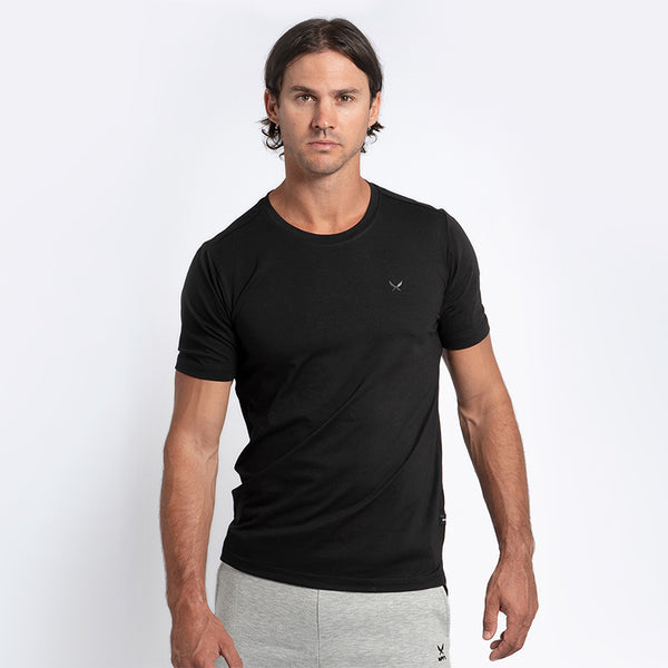 FUNDAMENTAL Men's black short-sleeve t-shirt | SMOKE & SODA