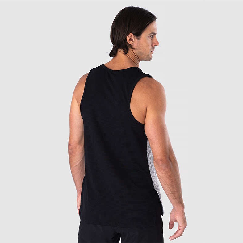 REACT Men's grey training muscle tank | SMOKE & SODA
