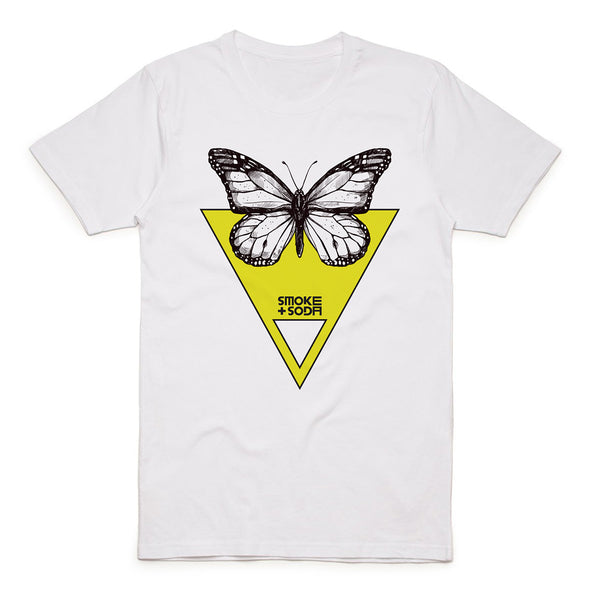 Yellow Butterfly T-Shirt | SMOKE & SODA