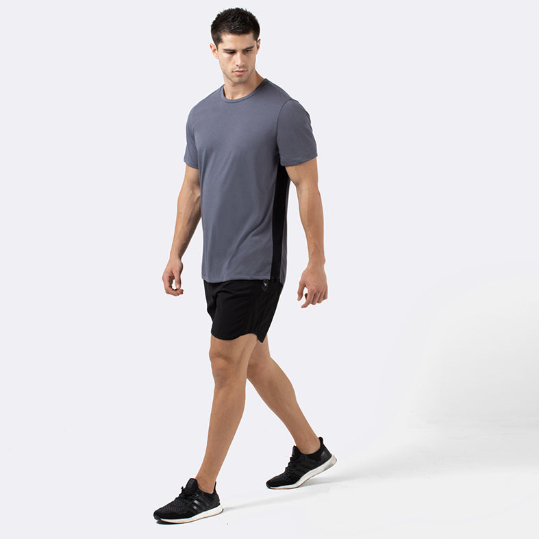 TRACE Men's steel short-sleeve training t-shirt | SMOKE & SODA