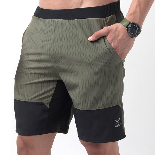 "VAPOUR Men's olive 9"" training shorts 