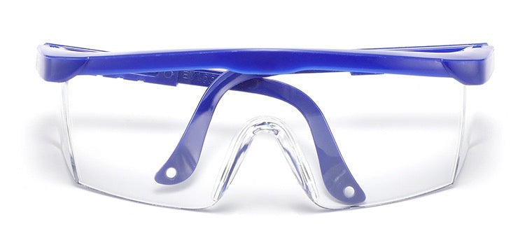 5 Pc Dental Protective Eye Goggles Safety Glasses Blue Frame - Emerson Dental & Medical Supply