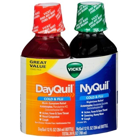Vicks Severe DayQuil and NyQuil Cough, Cold & Flu Relief, 72 LiquiCaps - Emerson Dental & Medical Supply