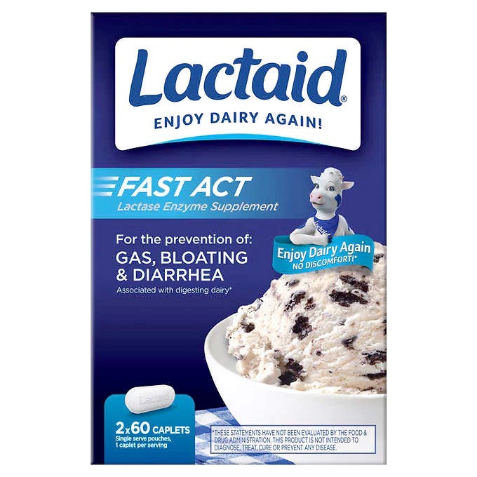 Lactaid Fast Act, 120 Caplets - Emerson Dental & Medical Supply