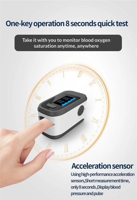 Finger Oximeter Oxygen Saturation Monitor Low Battery Voltage Heart Rate - Emerson Dental & Medical Supply
