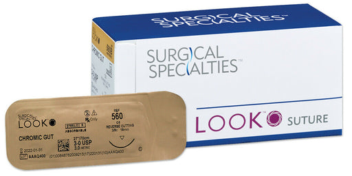 LOOK Chromic Gut Sutures - 4 Varieties - 12/Bx by SURGICAL SPECIALTIES - Emerson Dental & Medical Supply