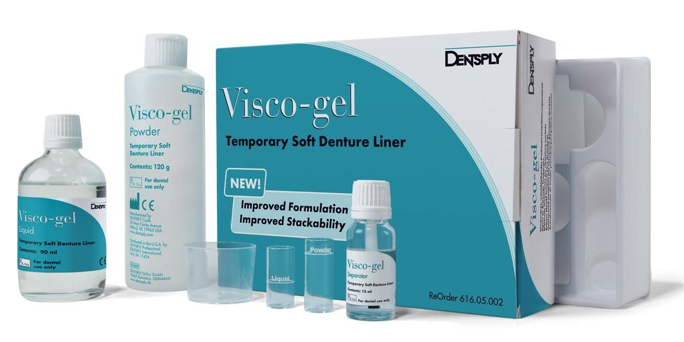 Visco-gel Soft Denture Liner - Complete package by Dentsply