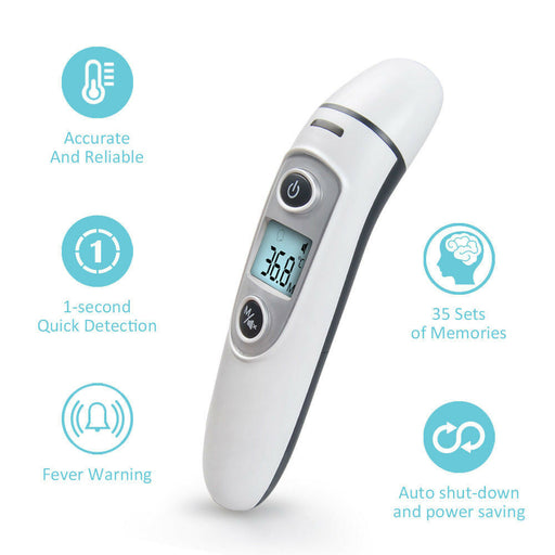Digital Forehead Ear Thermometer Baby Kids Adult Fever Body Temperature Infrared - Emerson Dental & Medical Supply