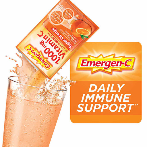 Emergen-C Vitamin C 1,000 mg. Variety Pack Drink Mix, 90 Packets - Emerson Dental & Medical Supply