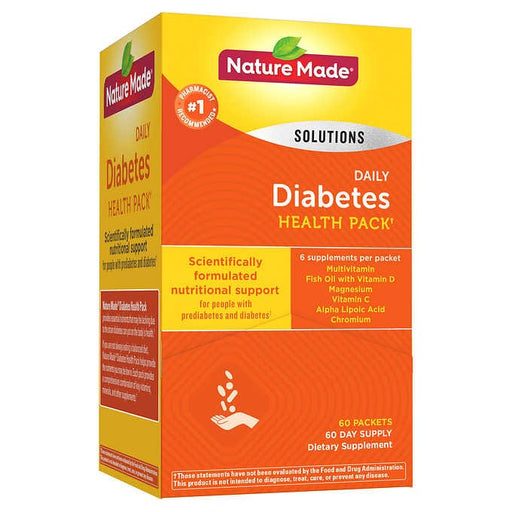 Nature Made Diabetes Health Pack, 60 Packets - Emerson Dental & Medical Supply