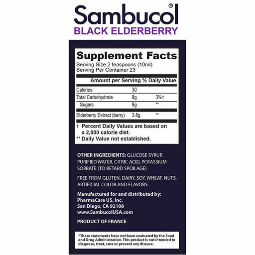 Sambucol Black Elderberry Immune Support Syrup, 15.6 Ounces - Emerson Dental & Medical Supply