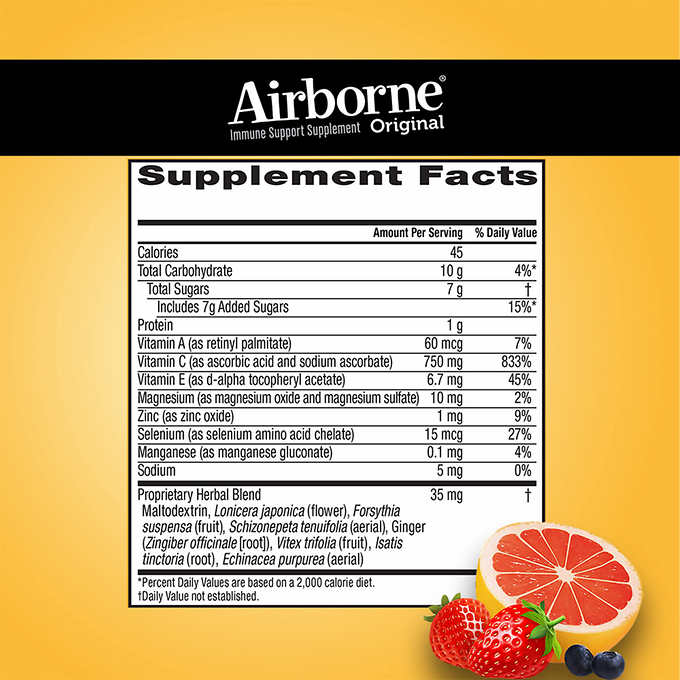 Airborne Immune Support Supplement, 75 Gummies - Emerson Dental & Medical Supply