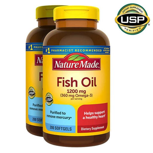 Nature Made Fish Oil 1200 mg., 400 Softgels - Emerson Dental & Medical Supply