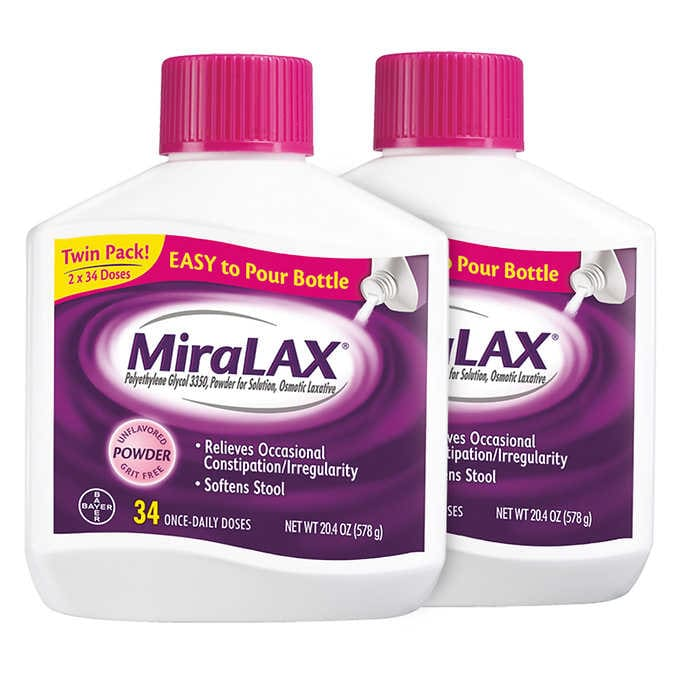 MiraLAX Powder Laxative, 68 Doses - Emerson Dental & Medical Supply
