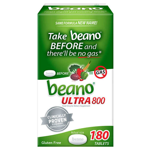 Beano ULTRA 800 Food Enzyme Dietary Supplement, 180 Tablets - Emerson Dental & Medical Supply