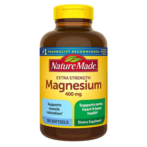 Nature Made Extra Strength Magnesium 400 mg., 180 Softgels - Emerson Dental & Medical Supply