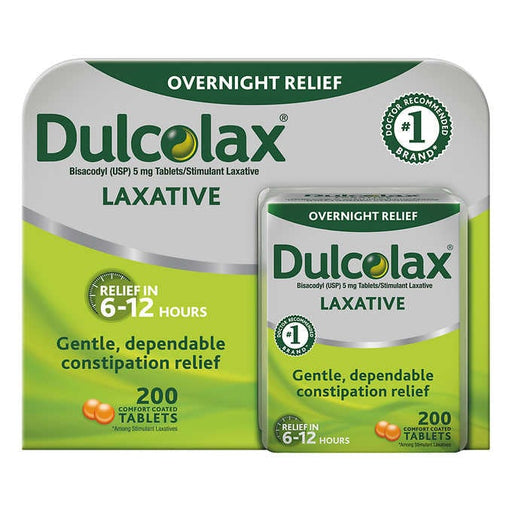 Dulcolax Laxative, 200 Tablets - Emerson Dental & Medical Supply