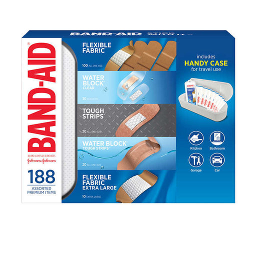 Band-Aid Adhesive Bandages 188 Count with Case - Emerson Dental & Medical Supply