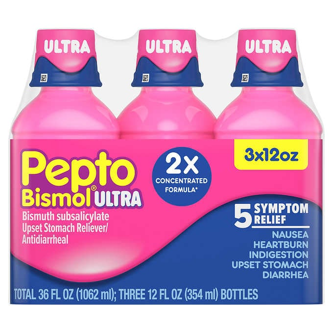 Pepto Bismol Ultra, 5 Symptom Digestive Relief Liquid, 36 Ounces - Emerson Dental & Medical Supply