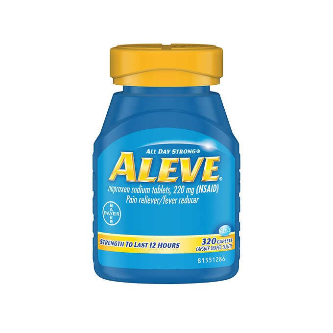 Aleve Naproxen Sodium 220 mg. Pain Reliever/Fever Reducer, 320 Caplets - Emerson Dental & Medical Supply