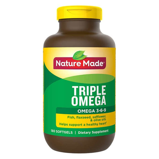Nature Made Triple Omega, 180 Softgels - Emerson Dental & Medical Supply