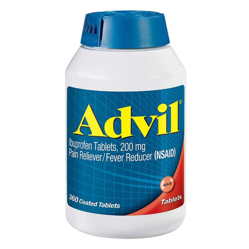 Advil Ibuprofen 200 mg., Pain Reliever/Fever Reducer 360 Tablets - Emerson Dental & Medical Supply