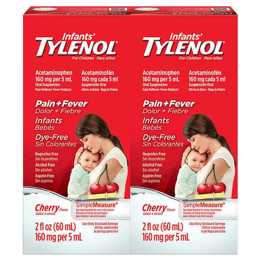 Infants' Tylenol Pain & Fever Cherry Flavor, 4 Ounces - Emerson Dental & Medical Supply