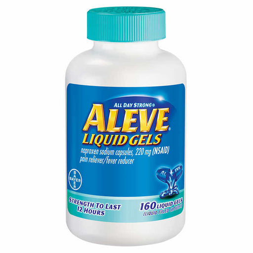 Aleve Pain Reliever, 160 Liquid Gels - Emerson Dental & Medical Supply