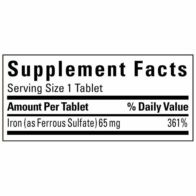 Nature Made Iron 65 mg., 365 Tablets - Emerson Dental & Medical Supply