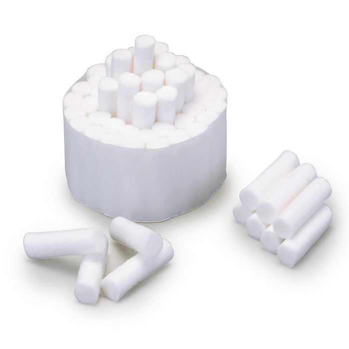 "Plain Wrapped Cotton Rolls Nose Bleed 1-1/2"" x 3/8"", (#2 Medium) - Emerson Dental & Medical Supply"