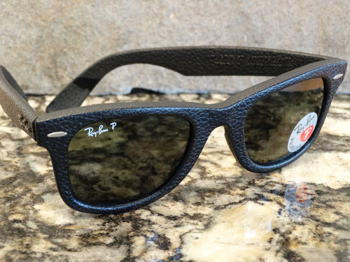 Ray Ban 2140-Q-M 1152/N5 50x22 Leather Wayfarer Sunspec
