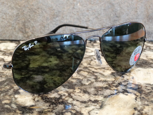 Ray Ban 3025 004/58 58x14 Large Metal Aviator Polarized Sunspec
