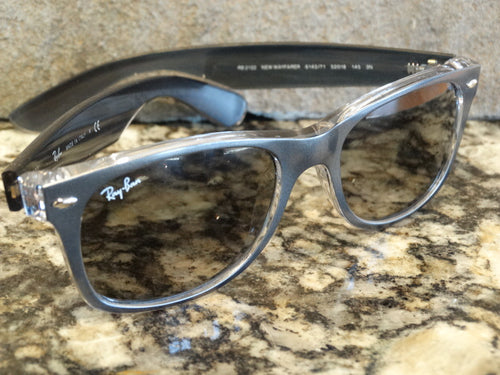 Ray Ban 2132 6143/71 52x18 New Wayfarer Sunspec