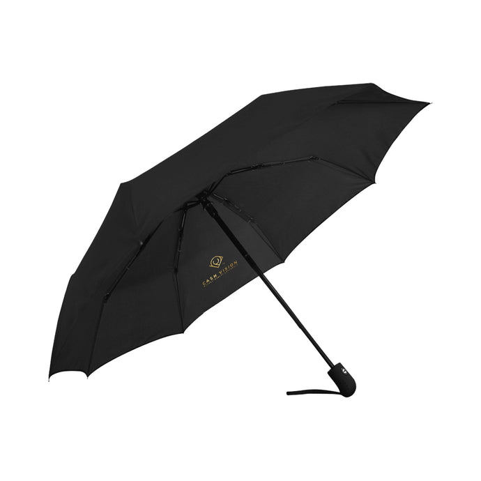 Cash Vision Anti-UV Auto-Fordable Umbrella - Black