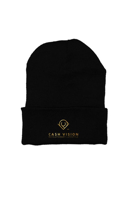 Cash Vision Embroidered Beanie - Black
