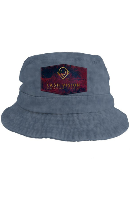 Cash Vision Bucket Hat - Navy Wash Blue