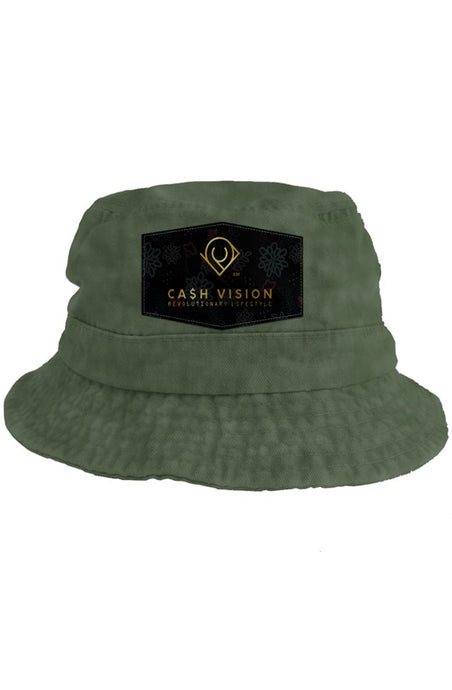 Cash Vision Bucket Hat - Olive Wash Green