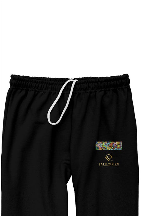 Cash Vision Relaxed Sweatpants - Black