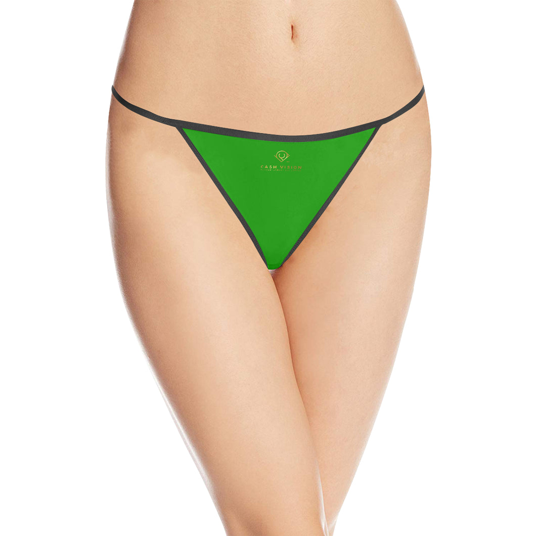 Cash Vision G-String Panties - Forest Green