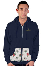 Load image into Gallery viewer, Cash Vision Zipper Floral Hoodie